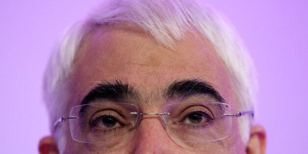 LONDON, ENGLAND - APRIL 08: Chancellor of the Exchequer Alistair Darling speaks during the Labour party's...
