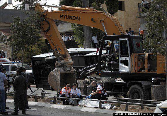 Jerusalem 'Terror Attack' As Digger Topples Bus Killing 1 And Injuring
