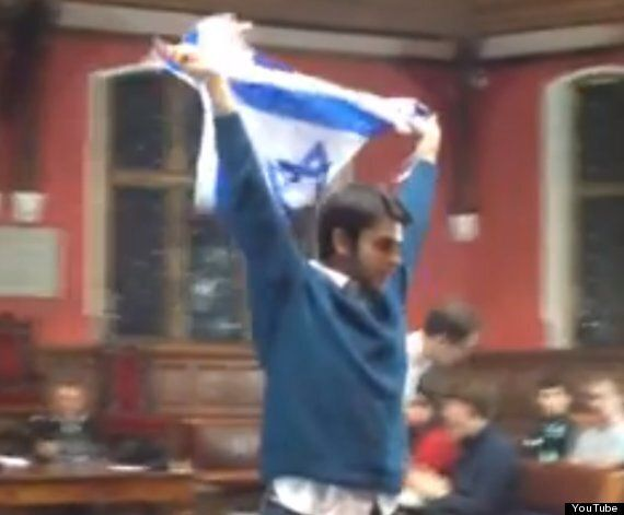 George Galloway Accused Of Being A Racist By Student With Israeli Flag