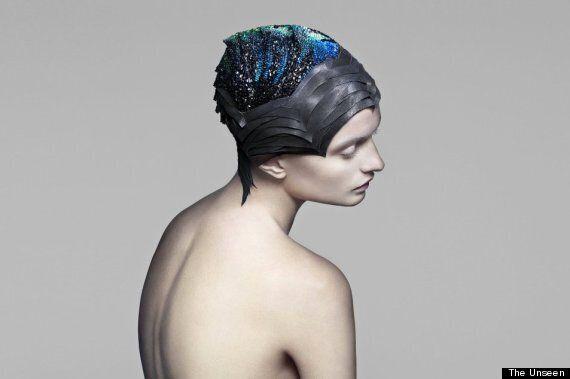 The Unseen's Swarovski Crystal Brain Helmet Can Read Your