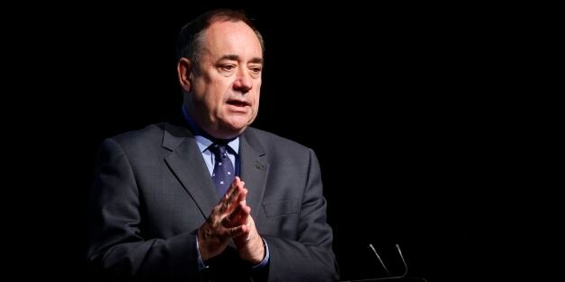 First Minister Alex Salmond during a