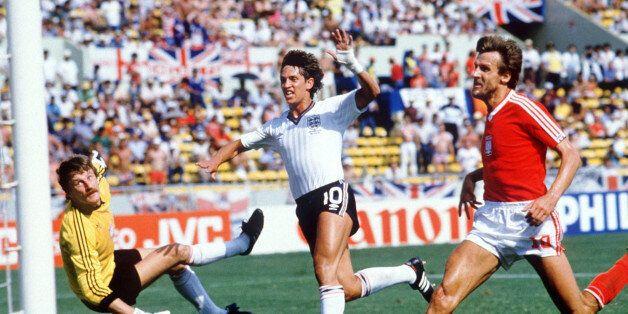 MONTERREY, MEXICO - JUNE 11: WM 1986 in Mexiko, Monterrey; ENGLAND - POLEN (ENG - POL) 3:0; TOR ZUM 1:0...