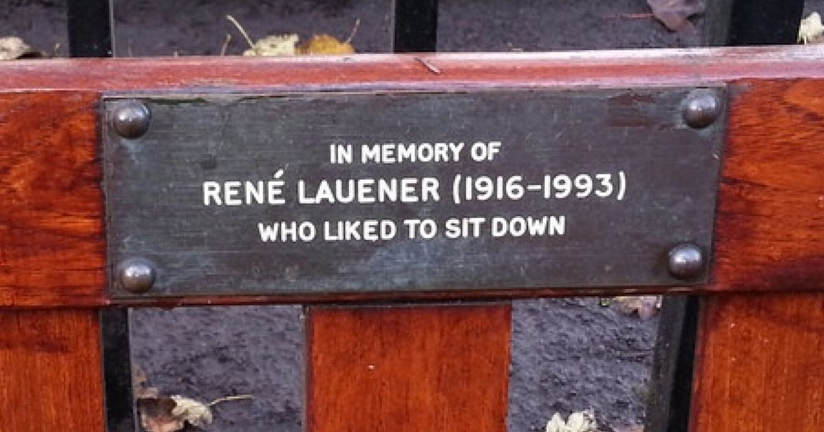 9 Hilarious Park Bench Memorial Plaques Pictures Huffpost Uk
