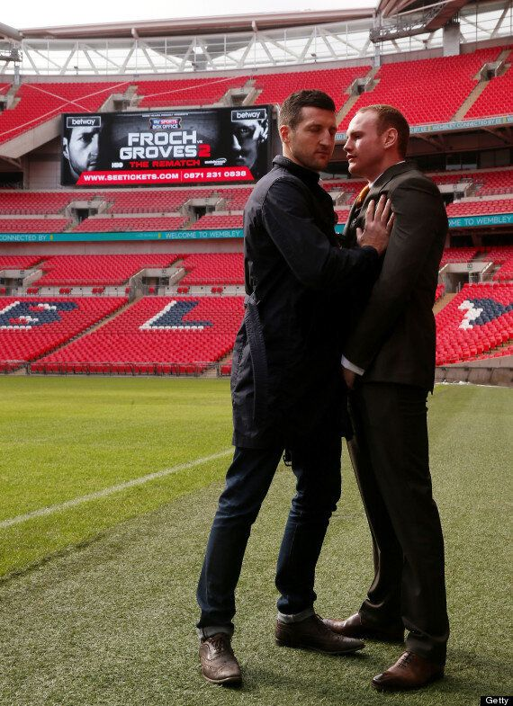 Carl Froch Shoves George Groves In Wembley Spat