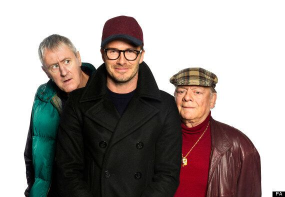 David Beckham Found Only Fools And Horses Sport Relief Sketch 'Nerve-Racking'
