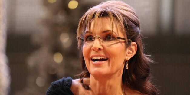 Sarah Palin signs copies of her new book 'Good Tidings and Great Joy: Protecting the Heart of Christmas'...
