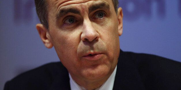 Governor of the Bank of England Mark Carney speaks during the bank's inflation report news conference...