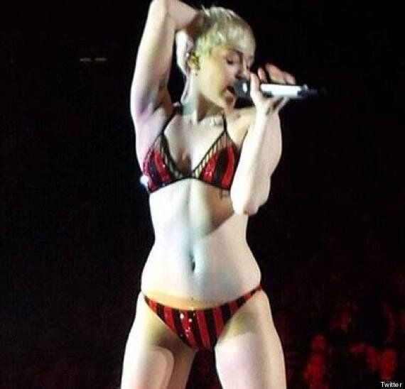 Miley Cyrus Performs In Underwear After Messing Up Quick Change During 'Bangerz' Tour