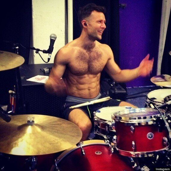 McBusted Drummer Harry Judd Shows Off His Muscles In Topless
