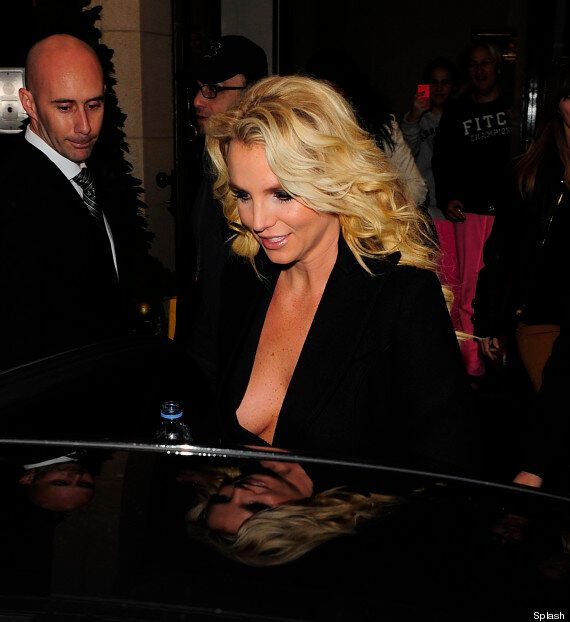 Britney Spears Bares Her Sideboob As She Heads Out To Film 'Alan Carr Chatty Man'