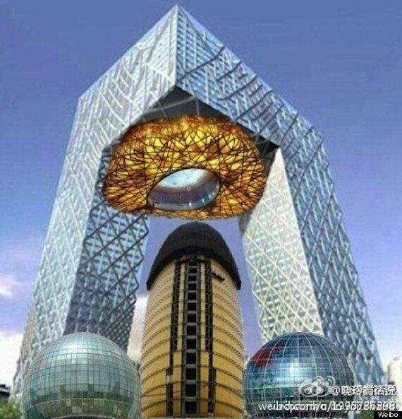 China Penis Building Photoshop Mashup Is Juvenile But Pretty Hilarious