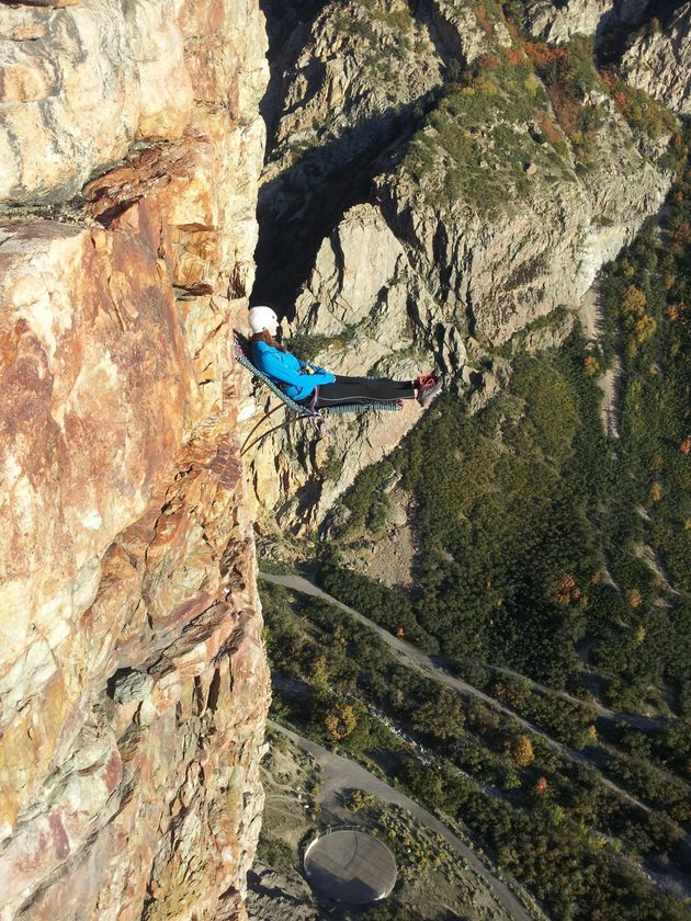 Picture(s) Of The Day: Climber Sits On Chair 350ft Up A Cliff