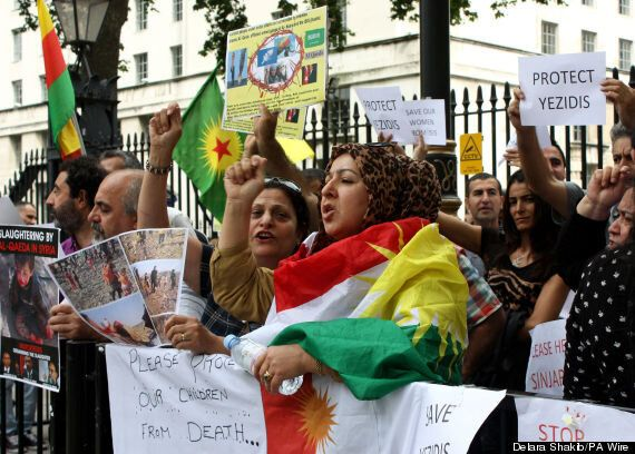 Yazidi Demonstrate In Whitehall For UK Government To Help Their People In