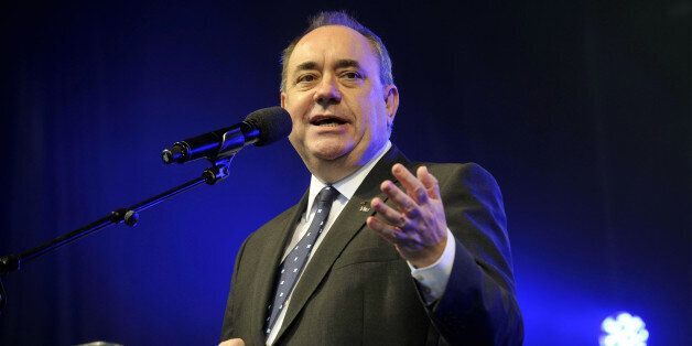 Scotland's First Minister Alex Salmond addresses Pro-independence supporters as they gather in Edinburgh...