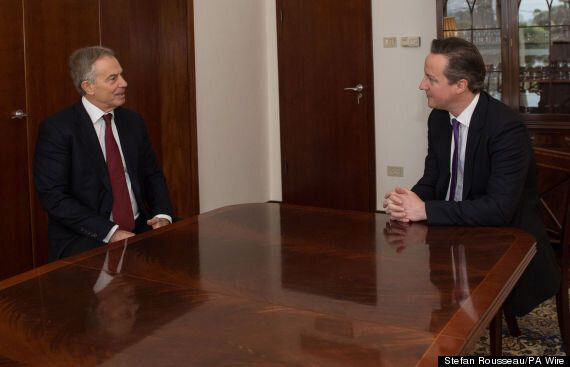 Tony Blair Meets David Cameron In Israel To Discuss Middle East Peace