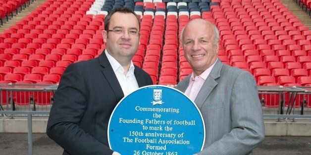 Greg Dyke and Alex Horne show off the
