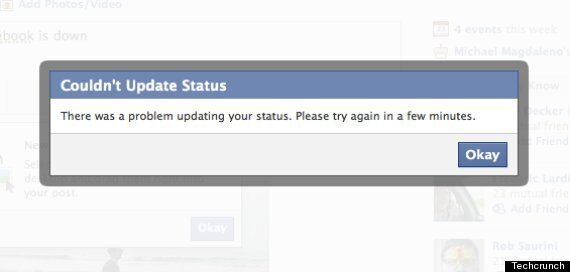 Facebook Down: Users Unable To Update Status Or Post