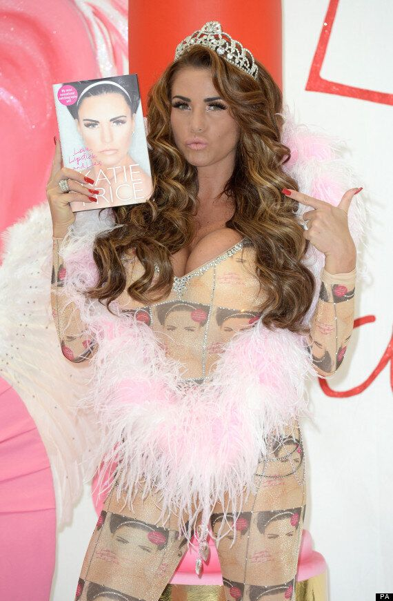 Katie Price Dons A Catsuit Plastered With Her Face As She Launches 'Love, Lipstick And Lies' Autobiography