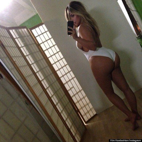 Kelly Brook Ribs Kim Kardashian By Posting Doctored Bum Picture On
