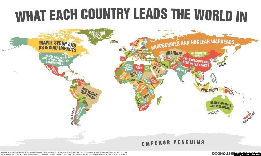 Every Country In The World Is Really Good At Something