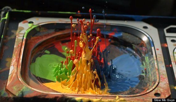 Paint Dancing On A Speaker By The Slow Mo Guys Is Incredible