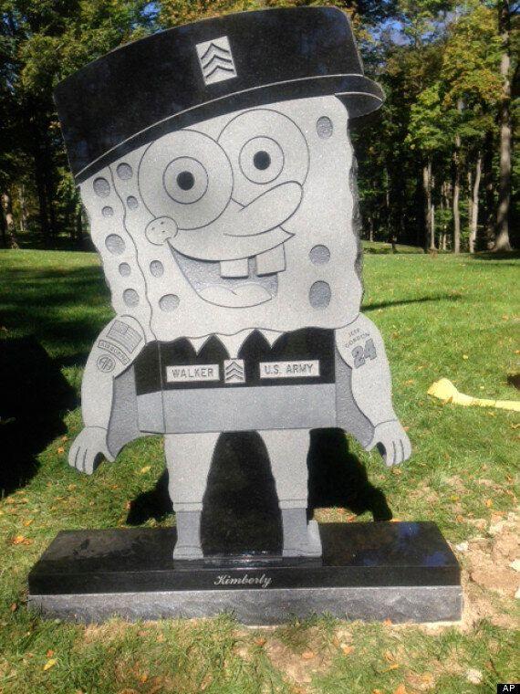 'Inappropriate' SpongeBob SquarePants Headstone For Iraq War Veteran Sgt Kimberly Walker