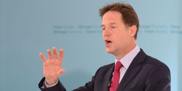File photo dated 05/08/14 of Deputy Prime Minister Nick Clegg who has pledged to abolish prison sentences...