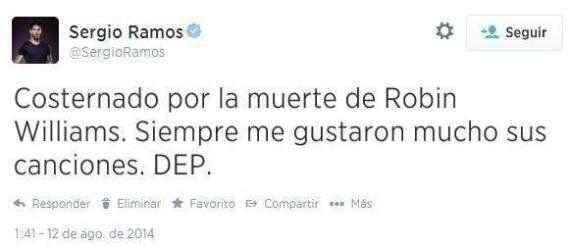 Robin Williams Dead: 'Sergio Ramos' Mistakes Actor For