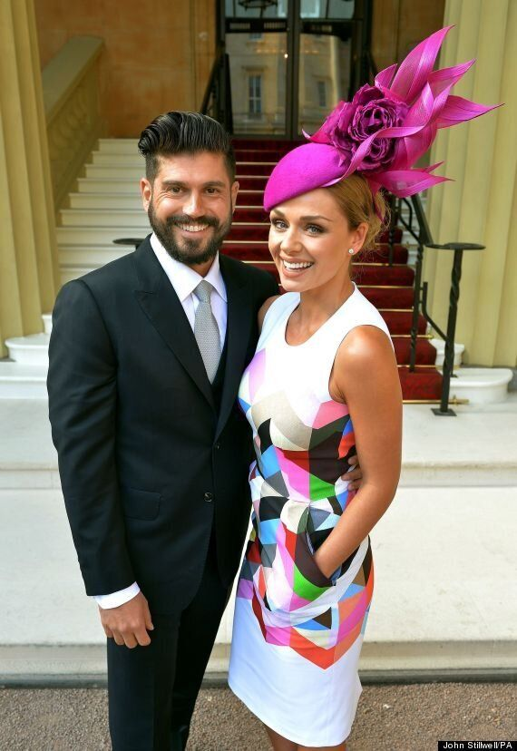 Katherine Jenkins Receives Her OBE From Prince Charles At Buckingham Palace Ceremony