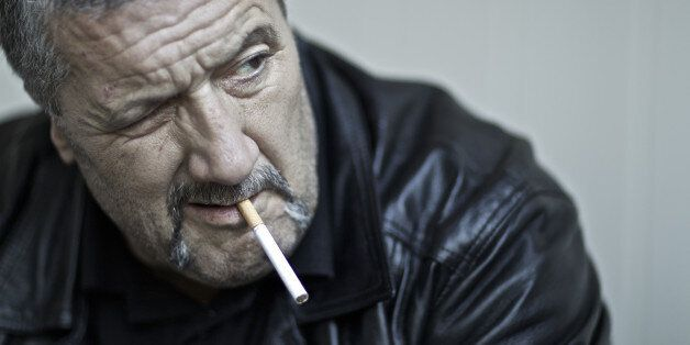 SYDNEY, AUSTRALIA - OCTOBER 7: (AUSTRALIA & NEW ZEALAND OUT) Mark 'Chopper' Read, for profile piece to...