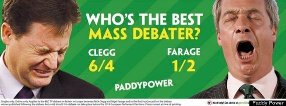 It's Fine For Paddy Power To Call Nigel Farage And Nick Clegg 'Mass