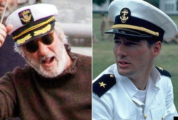 Richard Gere Looks A Far Cry From His 'Officer And A Gentlemen' Days As He Dons Another Sailor's Hat...