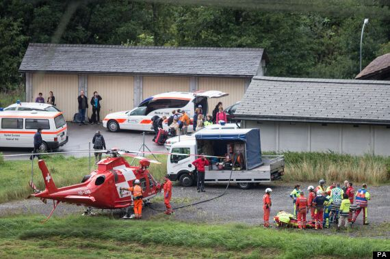 Swiss Train Left Hanging Over Ravine After Carriages Are Derailed By
