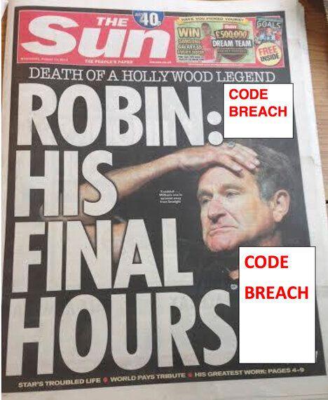 Press Coverage of Robin Williams' Suicide Shows Editors Won't