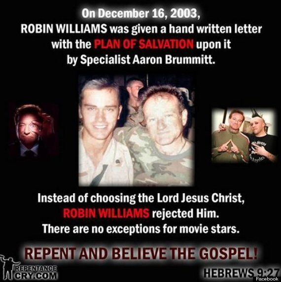 Britain First's Christian Wing Condemn Robin Williams For 'Rejecting Jesus