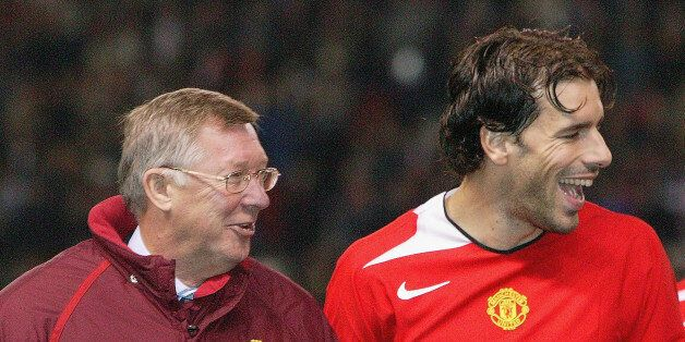 Van Nistelrooy with Ferguson ahead of the Scot's 1,000th match in charge of United. The Dutchman scored...