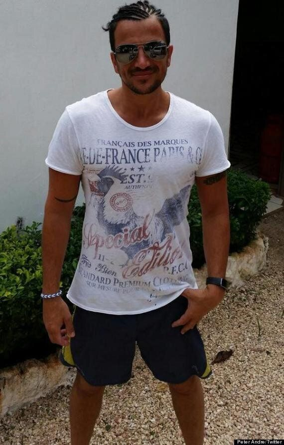 Peter Andre Shows Off His Dodgy Cornrows In Twitter Holiday Photos