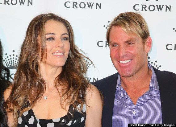 Shane Warne Threatens To Join Tinder After Pics Of His Ex Liz Hurley Kissing Her New Man David Yarrow