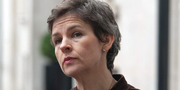 MP Mary Creagh, shadow secretary of state for Environment, Food and Rural Affairs stands outside the...