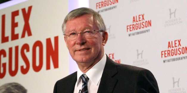 LONDON, ENGLAND - OCTOBER 22: Sir Alex Ferguson attends a press conference to announce the release of...