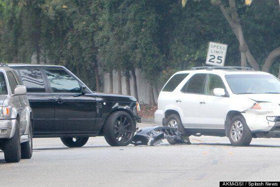 David Beckham In LA Car Crash While Driving Black Range