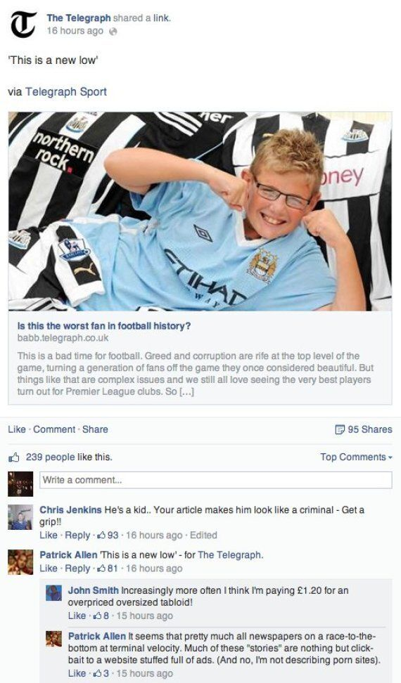 Newcastle Fan Who Now Supports Manchester City 'Trolled' By