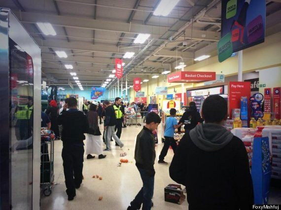 #FreeGaza Protest At Birmingham Tesco Sees Arrest As Stock Is Hurled To The