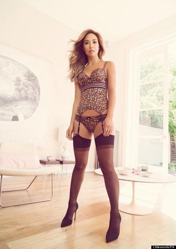 Myleene Klass Strips To Leopard Print Underwear For Sexy Littlewoods Photo Shoot