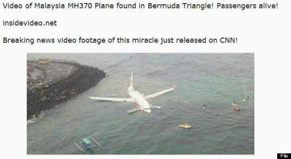 Missing Plane MH370 Found? Nope. Facebook Scams Dupe Thousands With Fake