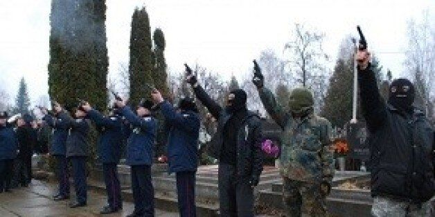 Right Sector, often dubbed neo-Nazis, came to pay their respects at the funeral of a Jewish