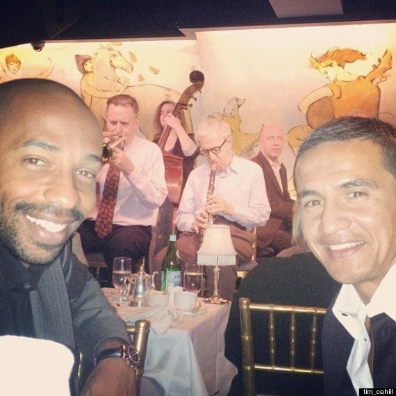 Thierry Henry And Tim Cahill Watch Woody Allen Play Jazz
