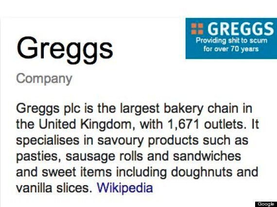 Greggs' Logo Nightmare Over As Google Comes To The