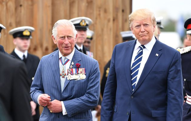 Prince Charles and U.S. President Donald Trump are seen here