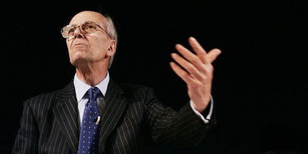 Lord Norman Tebbit, the former chairman of the Conservative Party, speaks in the The Telegraph debate...